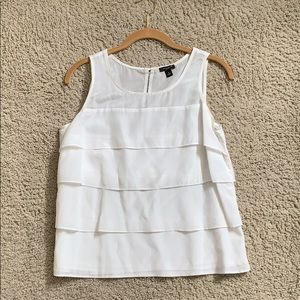 Ann Taylor sleeveless woven tiered top, Size Small